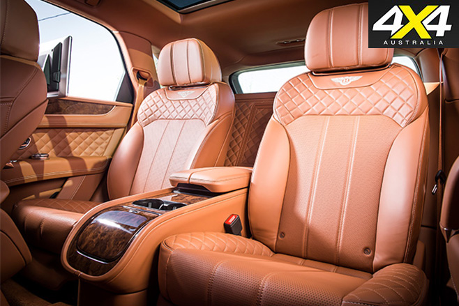 Bentley Bentayga driving rear seats