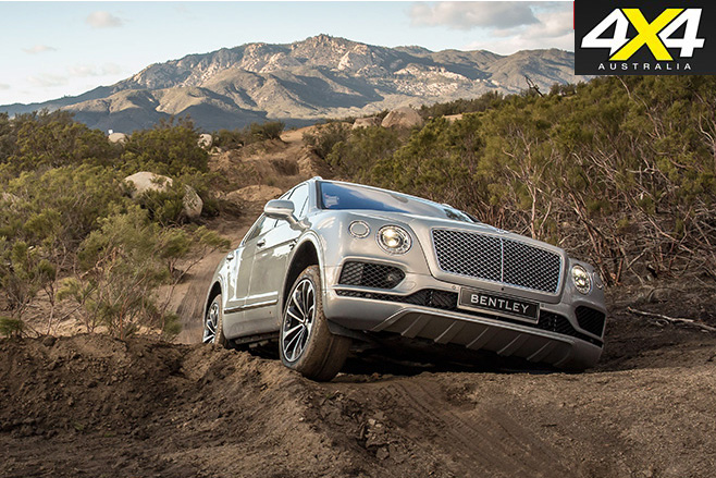 Bentley Bentayga climbing