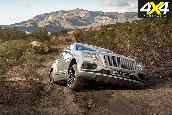Bentley Bentayga climbing