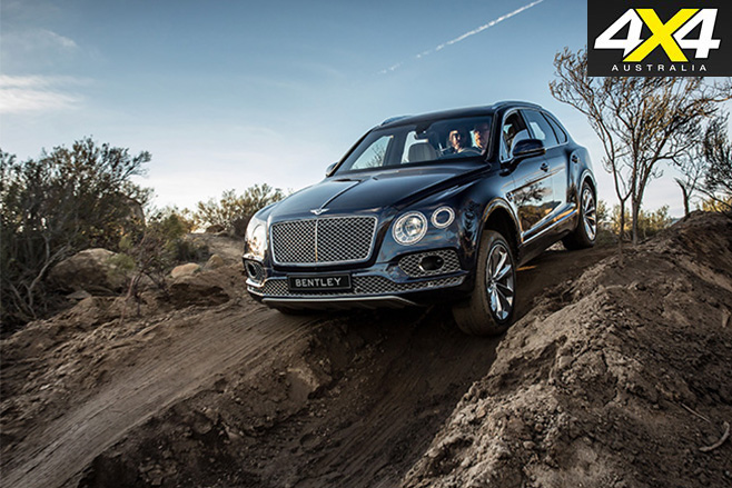 2016 Bentley Bentayga tungsten downhill
