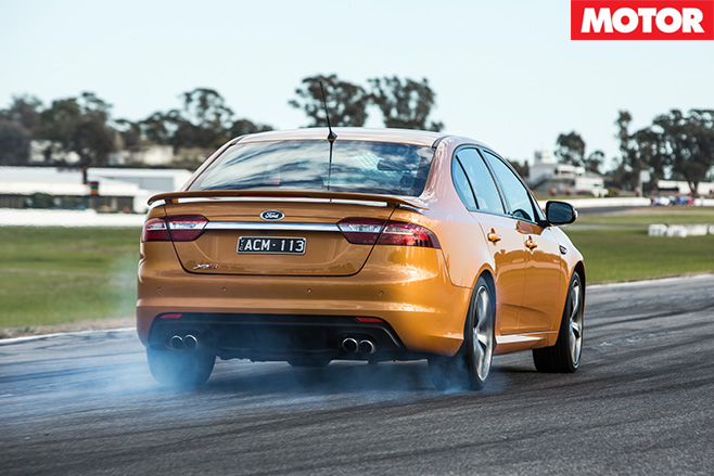 Ford falcon xr8 driving rear