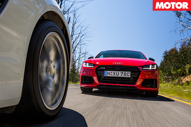 Audi chasing cayman