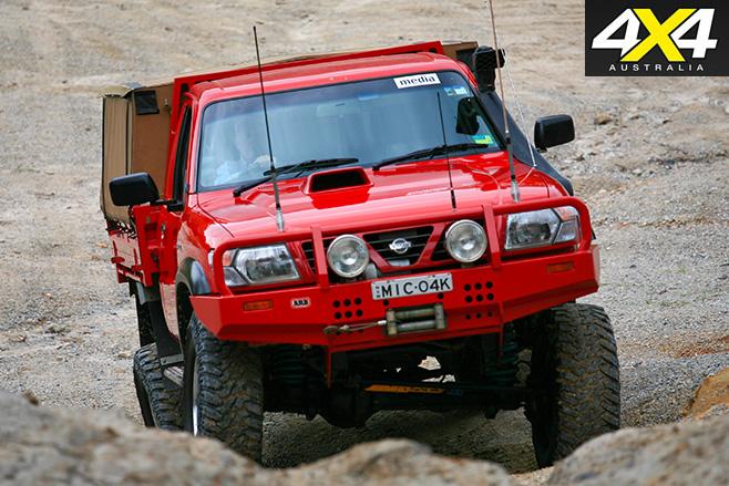 Nissan GU Patrol with Toyota Engine front