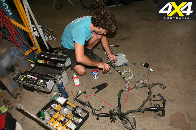 Working on wiring
