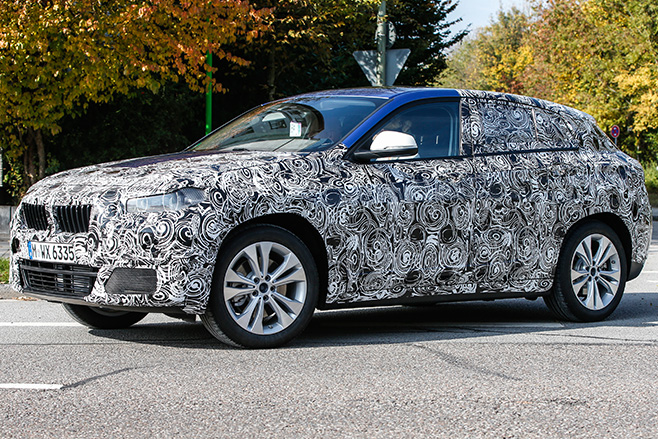 BMW-X2-spy -pic -side