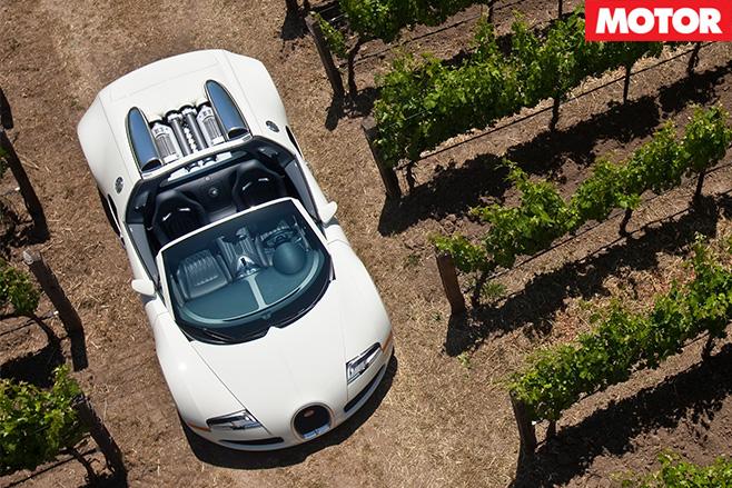 Bugatti veyron top view