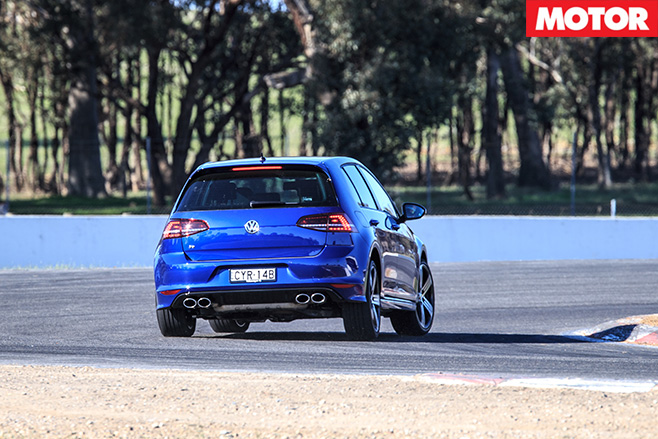 Volkswagen Golf R driving rear