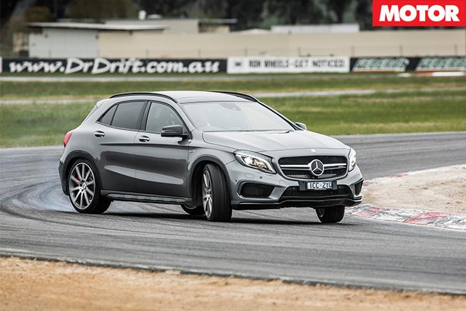 Mercedes-AMG GLA45 driving