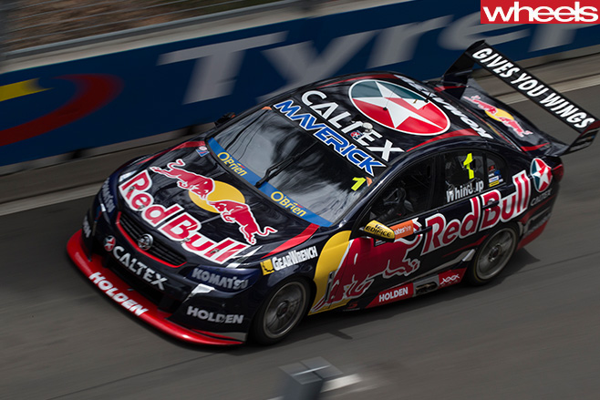Jamie -Whincup -driving -overhead