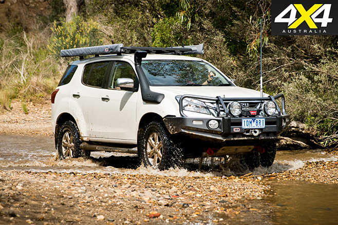Isuzu driving in rough conditions