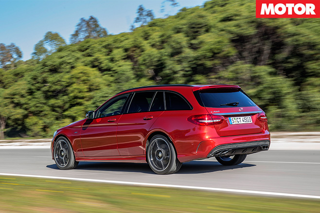 Mercedes-AMG C450 rear