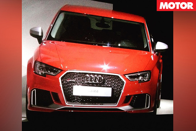 Audi RS3 sedan caught undisguised 2