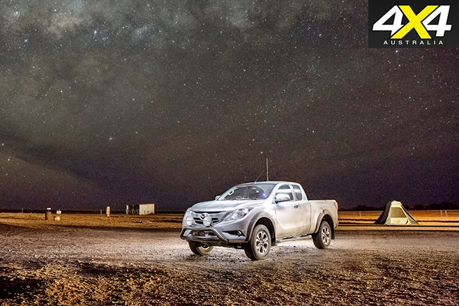 Night time in the desert