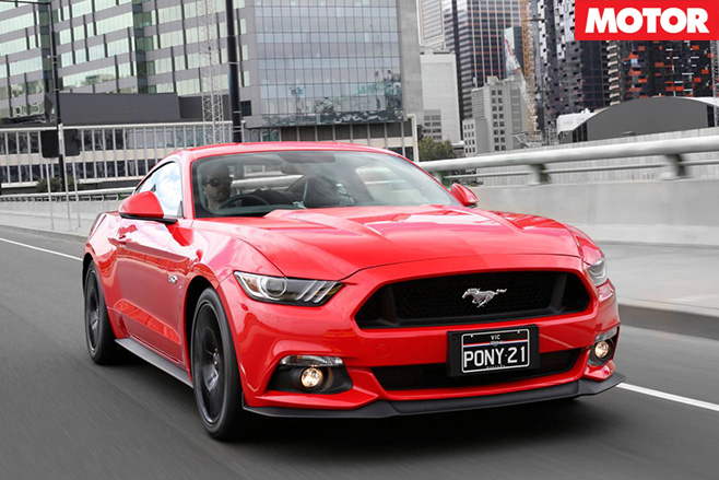Ford mustang driving