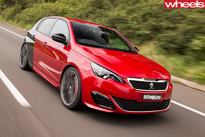 Peugeot -308-gti -driving -front -side -on