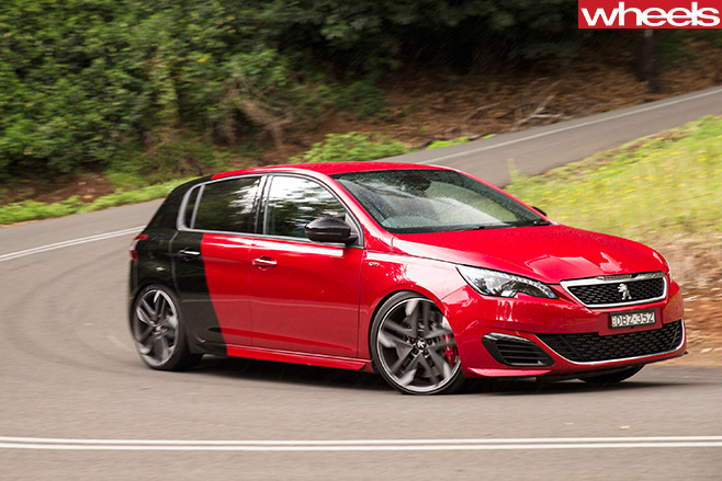 Peugeot -308-gti -driving -side