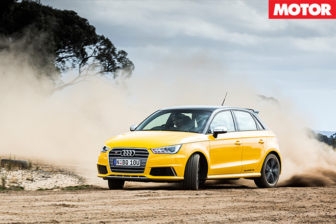 Audi S1 driving