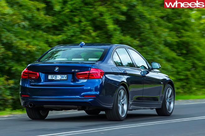 BMW-318i -driving -rearjpg
