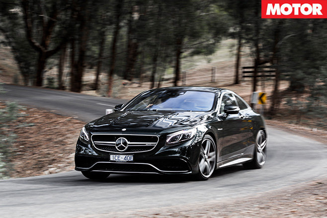 Mercedes AMG S63 driving