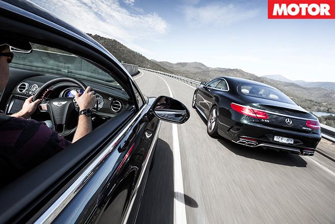Bentley Continental V8 S vs Mercedes AMG S63 rear driving