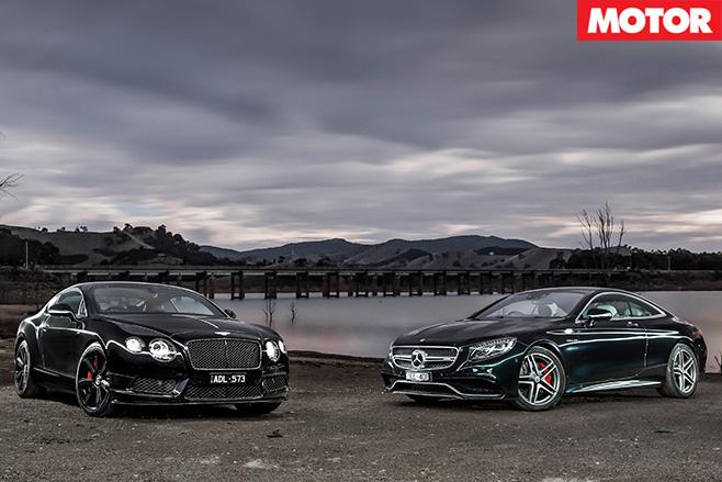 Bentley Continental V8 S vs Mercedes-AMG S63 dark
