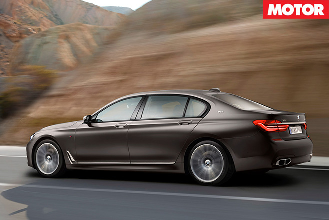BMW M760Li rear side