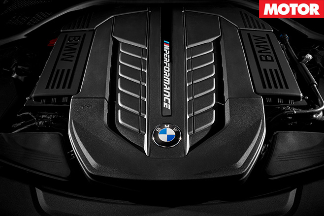 BMW M760Li engine