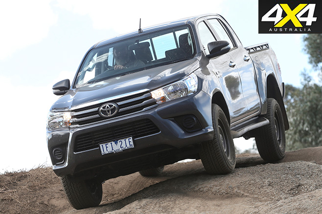 Toyota hilux driving front