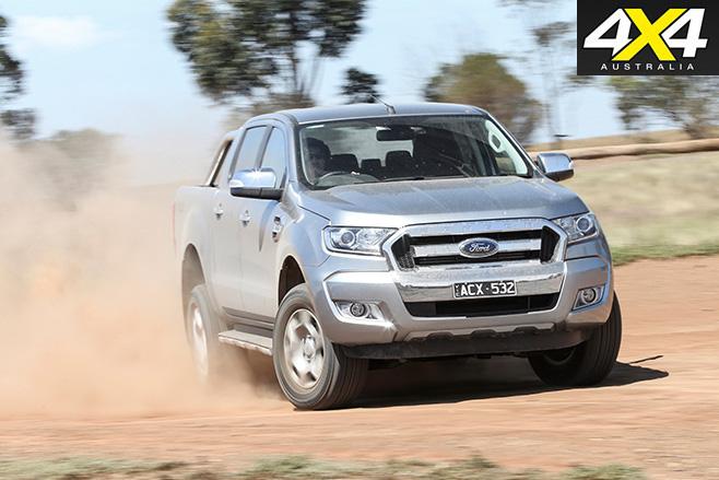 Ford ranger driving dirt