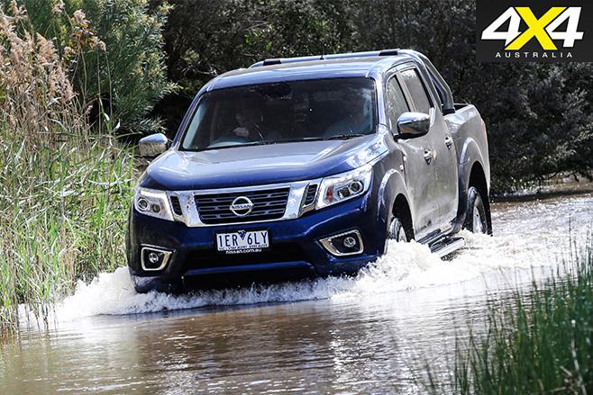 Nissan Navara driving water