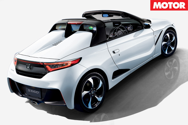 Honda's mid engined S660 rear 2