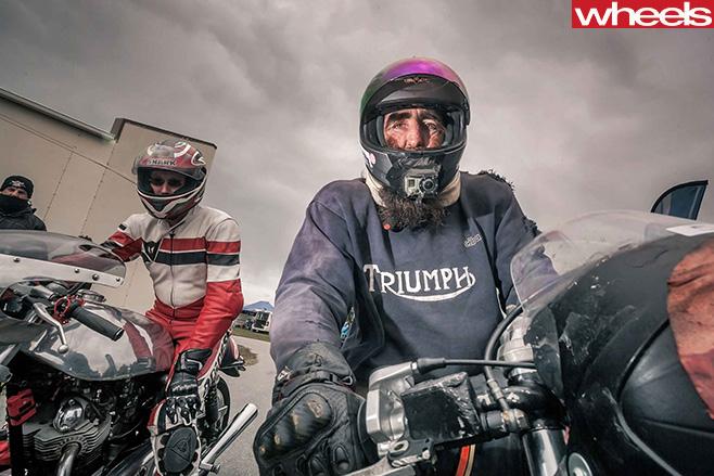 Motorbike -riders -carpark