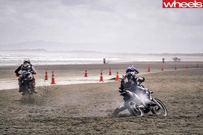 Motorbike -riders -dirt