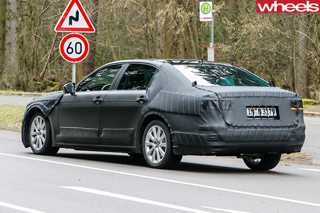 Volkswagen -CC-Rear -Side -Spy -Pic