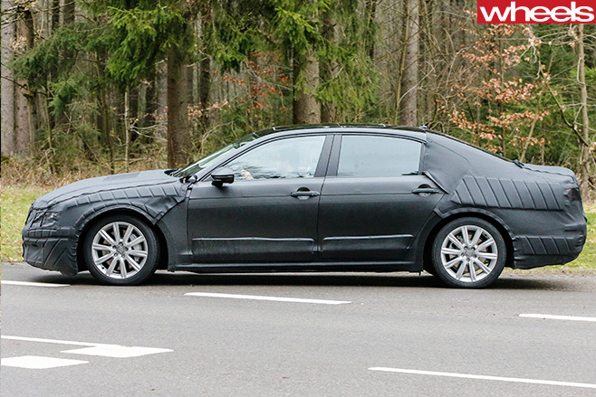 Volkswagen -CC-Side -Spy -Pic