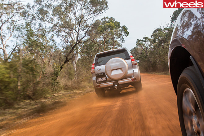 Toyota -Prado -rear -driving -clay