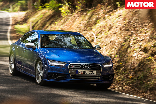 Audi s6 driving