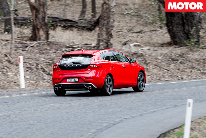 Volvo v40 rear driving