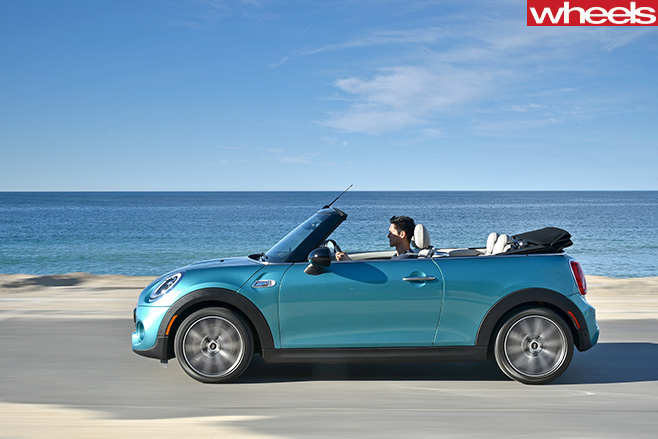 Mini -Cooper -S-Convertible -Caribbean -Aqua -side