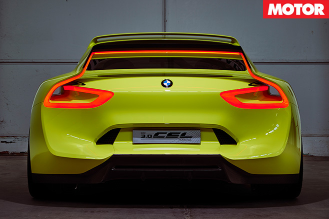 BMW CSL Hommage Concept rear spoiler lights