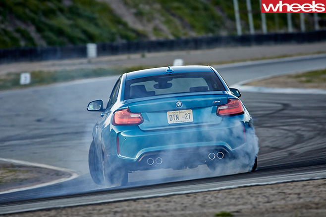 BMW-M2-tearing -up -track