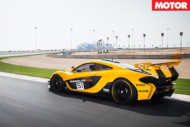 McLaren P1 GTR rear driving