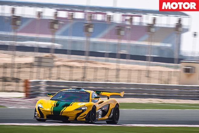 McLaren P1 GTR driving fast