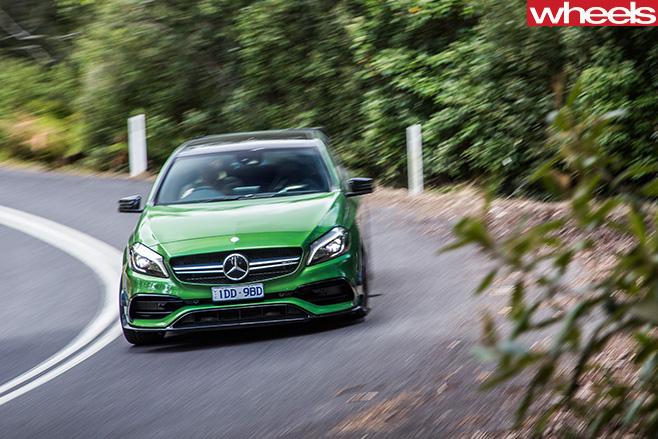 Mercedes -AMG-A45-driving -corner
