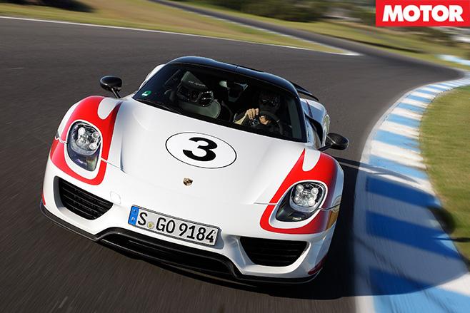 Porsche 918 Spyder front driving