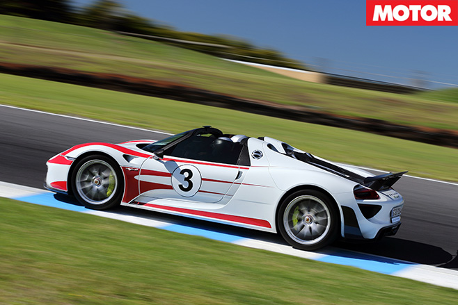 Porsche 918 spyder side driving