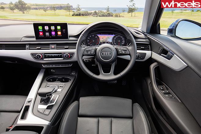 Audi -A4-front -seats -interior