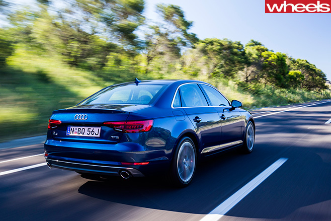 Audi -A4-driving -side -rear