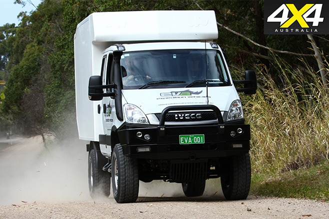 Iveco driving dirt road