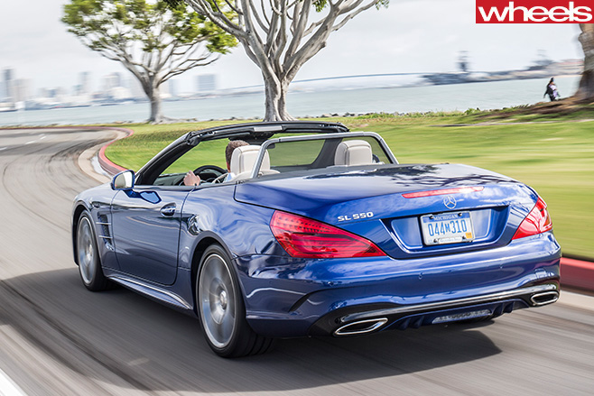 Mercedes -SL500-driving -side -rear